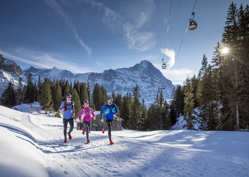 Winter Trail Runners bei Bort